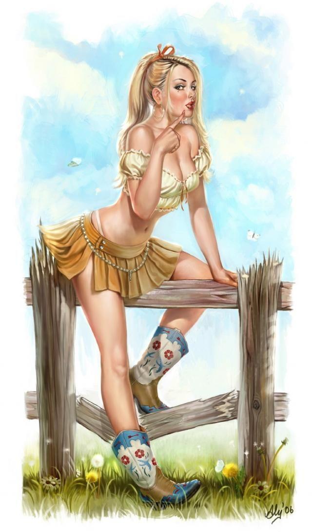 Рисунки голых дам